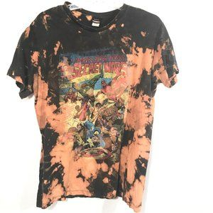 MARVEL X Custom x Acid Wash Shirt Black Tee